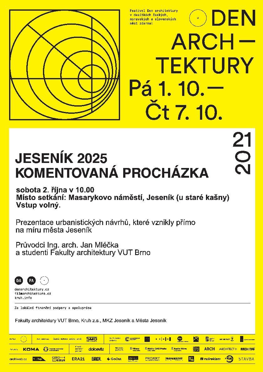 DEN ARCHITEKTURY: JESENÍK 2025 - VIZE PRO TVORBU UDRŽITELNÉHO URBANISMU