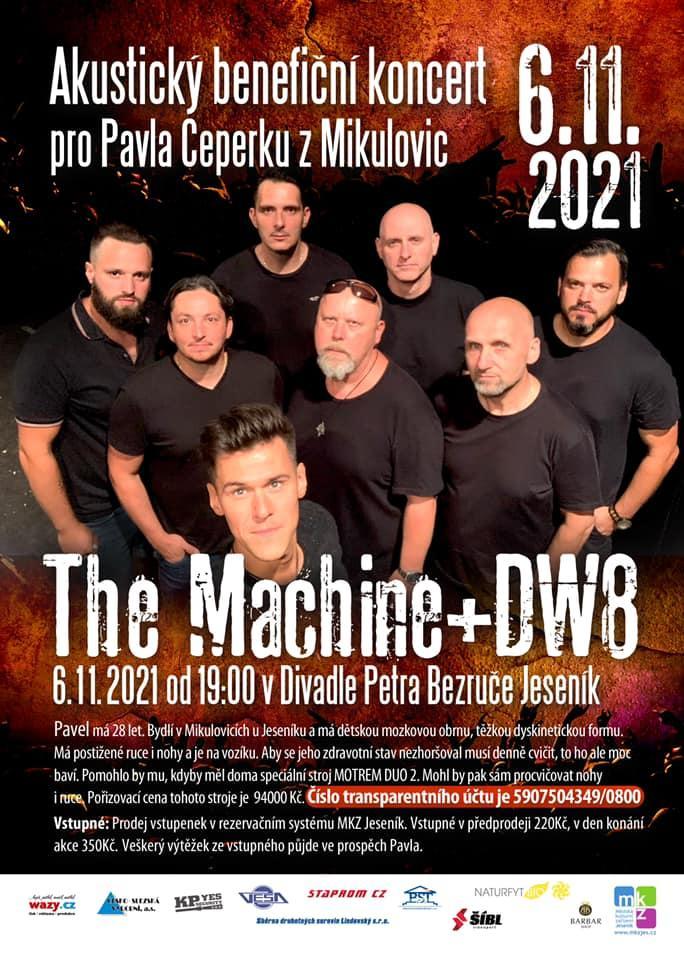 AKUSTICKÝ BENEFIČNÍ KONCERT PRO PAVLA: THE MACHINE + DW8