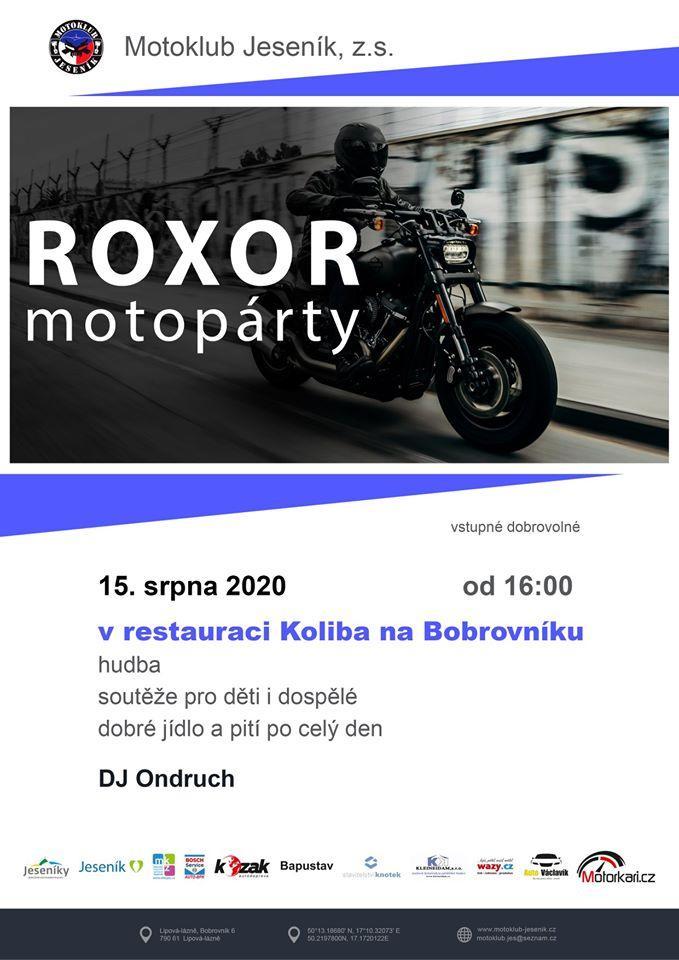 MOTOPÁRTY ROXOR 2020